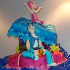 LAZY TOWN, Espectacular torta en elevación