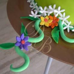 Detalle Floral en Pastillaje