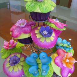 Cupcakes florales 1