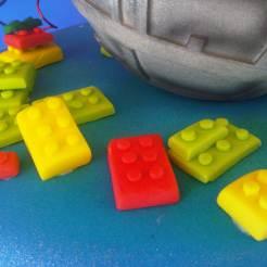 Bloques de Lego en Fondant